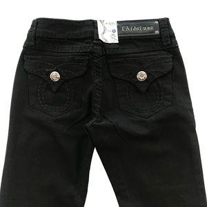 LA Idol New Black Boot Cut Jeans